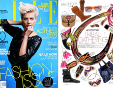 Laloo Disco Scalloped Hoops in ELLE (SA)