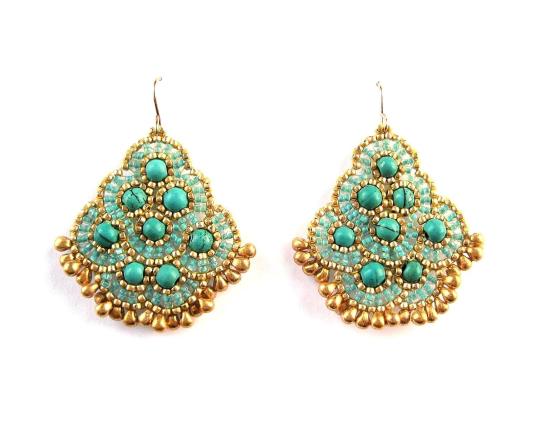 Andalucia Earrings, howlite