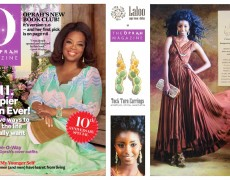Laloo Tuck Turn Earrings in Oprah Magazine (SA)