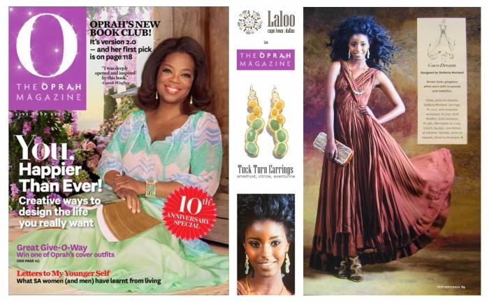 Laloo Tuck Turn Earrings in Oprah Magazine