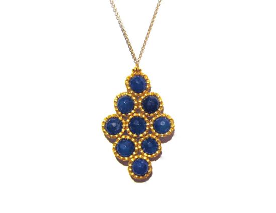 Dottie Pendant, blue jade