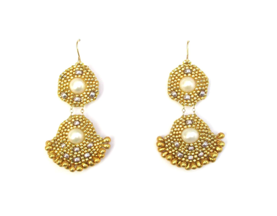 Orion Duo Earrings, pearl