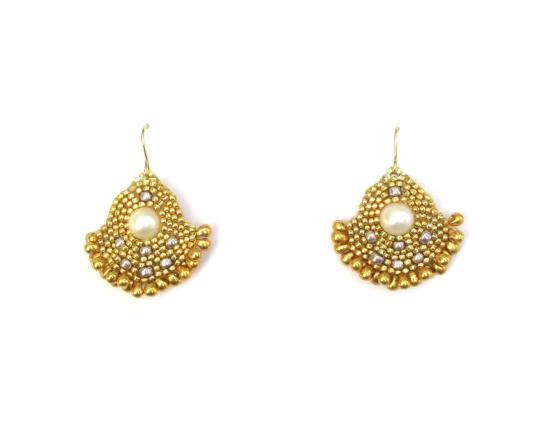 Orion Solo Earrings, pearl