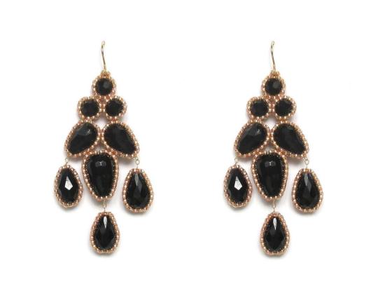 Laloo – Bellflower Chandeliers, obsidian