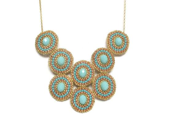 Laloo – Bullseye Necklace, blue glass