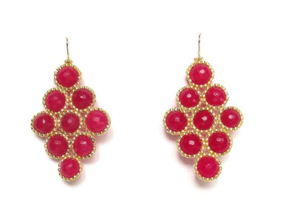 Laloo – Dottie Diamonds, raspberry jade