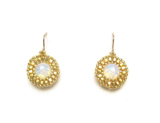Laloo – Dottie Earrings, moonstone and gold