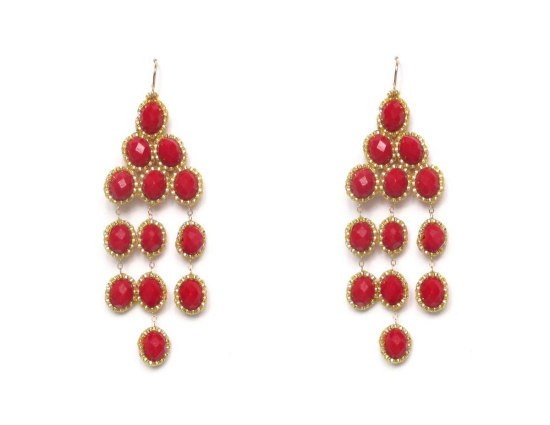 Laloo – Giza Chandeliers, red glass