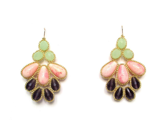 Laloo – Mosaic Bloom Chandeliers, pink coral and glass