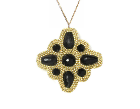 Laloo – North Star Pendant, onyx and obsidian
