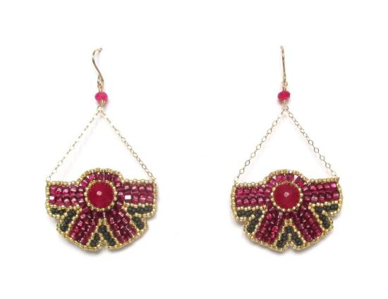 Laloo – Nouveau Bloom Chandeliers, raspberry jade