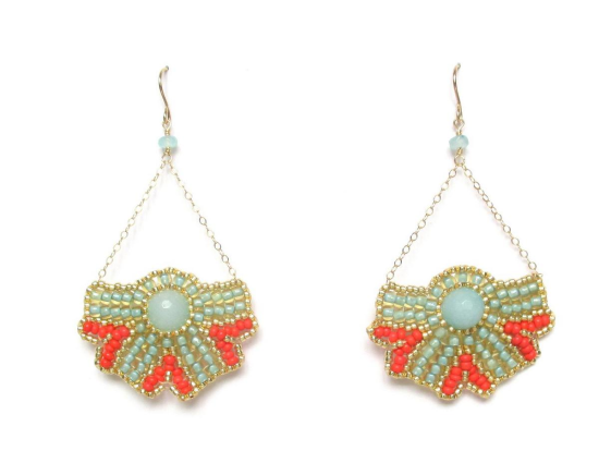 Laloo – Nouveau Bloom Earrings, blue jade
