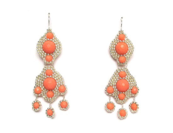 Laloo – Orion Chandeliers with Comets, coral howlite