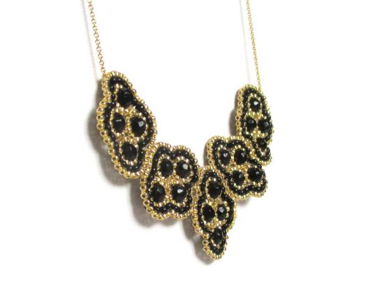 Laloo – Quadratic Necklace, onyx, side