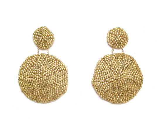 Laloo – Sand Dollar Earrings, gold, large
