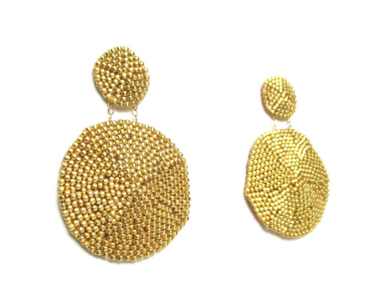 Laloo – Sand Dollar Earrings, gold, large side