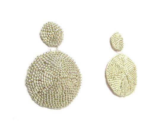 Laloo – Sand Dollar Earrings, silver, large side