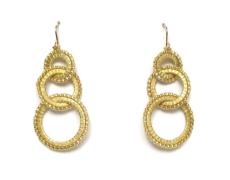 Three Ring Earrings