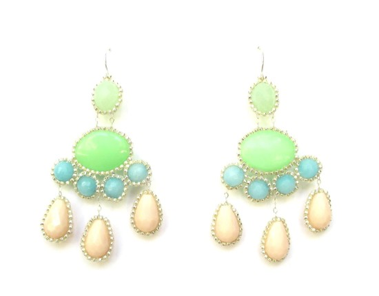Laloo – Cumi Deluxe Chandeliers, blue jade, blush and green glass