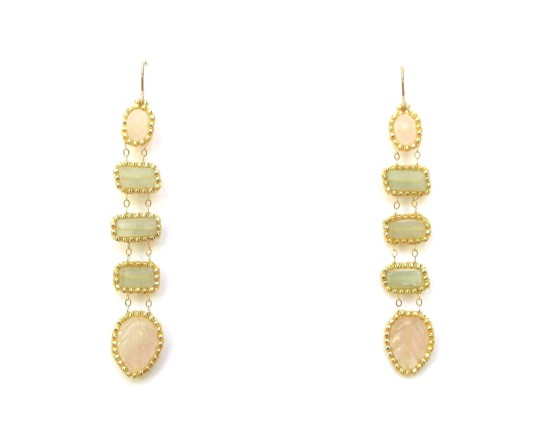 Laloo – Jianmu Feather Dusters, amazonite and pink quartz