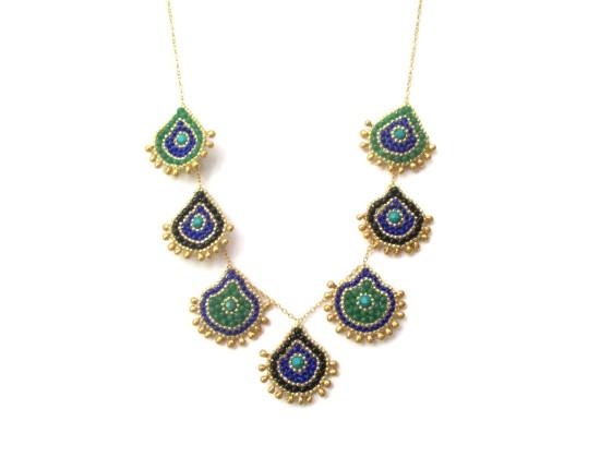 Laloo – Keilani Teardrop Necklace, green howlite