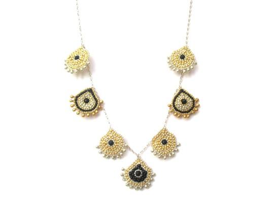 Laloo – Keilani Teardrop Necklace, onyx