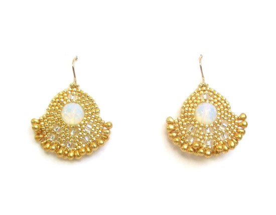 Laloo – Orion Solo Earrings, moonstone with gold