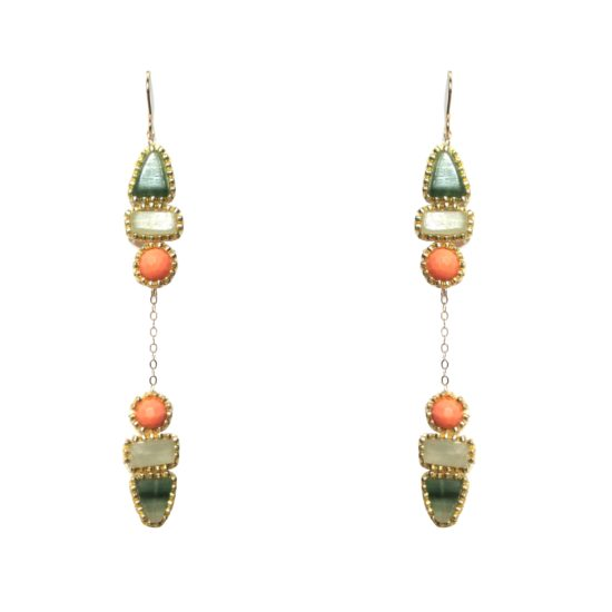 Laloo – Arrow Dusters, green and coral