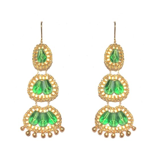 Laloo – Cactus Bloom Chandeliers, green glass