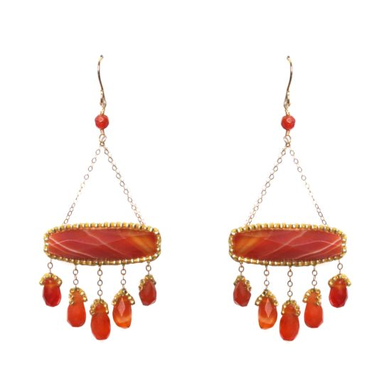 Laloo – Carnelian Scales Earrings