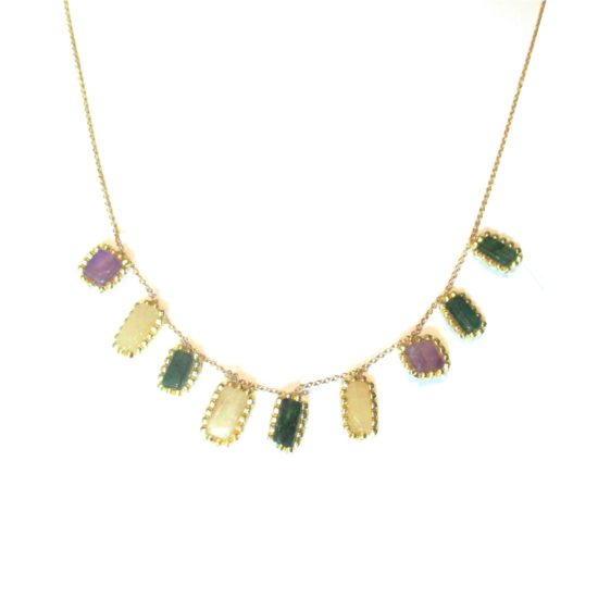 Laloo – Confetti Necklace, purple clear and green
