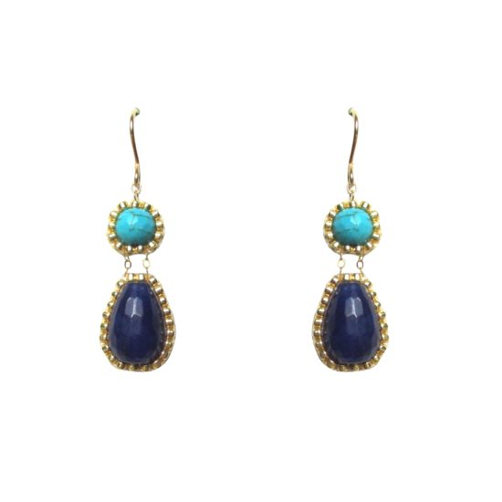 Laloo – Exclamation Earrings, blues