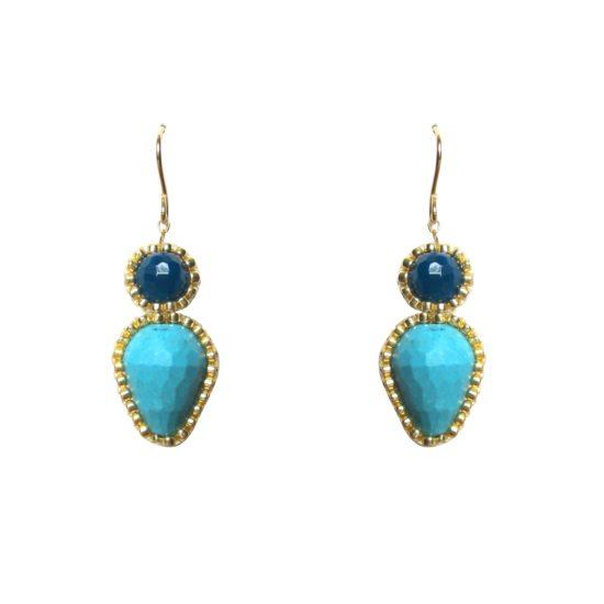 Laloo – Firefly Earrings, blues