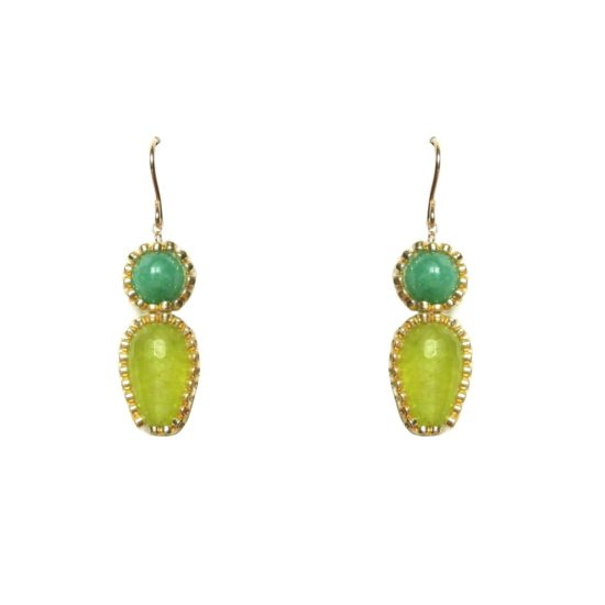 Laloo – Firefly Earrings, greens