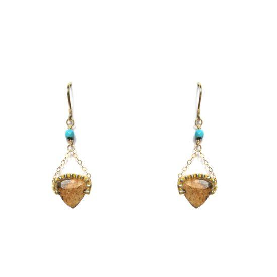 Laloo – Gemstone Studded Earring, jasper