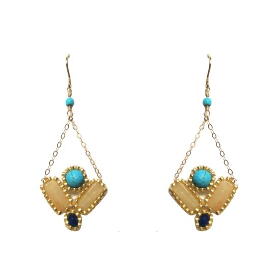 Laloo – Kaleidoscope Earrings, blue