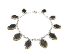 Lapis Leaf Bracelet