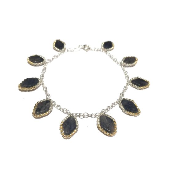 Laloo – Lapis leaf bracelet