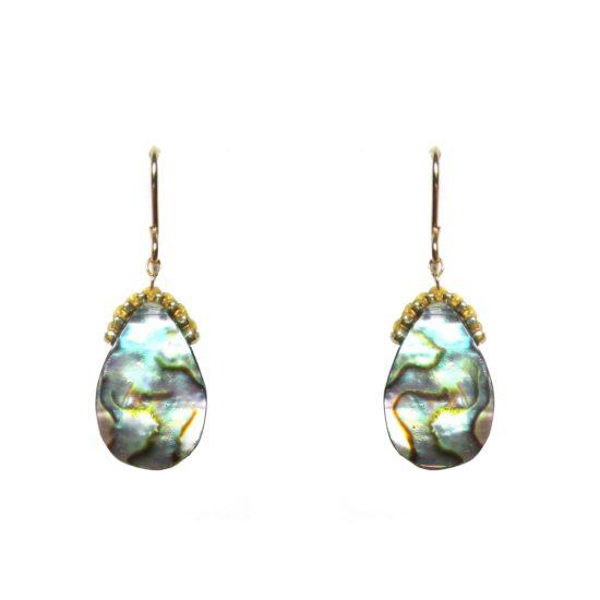 Laloo – Teardrop Earrings, abalone