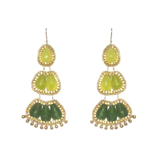 Laloo – Cactus Bloom Chandeliers, green jade