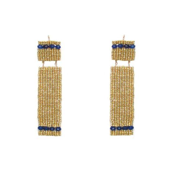Laloo – Long Shadow Earrings, midnight blue agate
