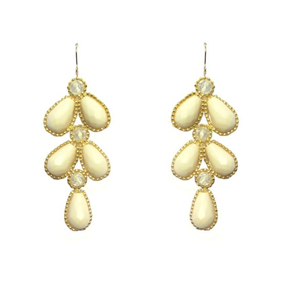 Laloo – Wisteria Earrings, blush and clear glass
